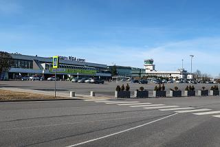 Station square of Riga Airport
