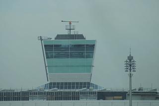 Диспетчерская башня в аэропорту Мюнхен