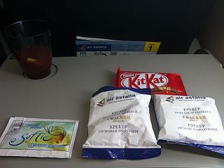 Питание на рейсе авиакомпании  Эйр Астана Костанай-Астана