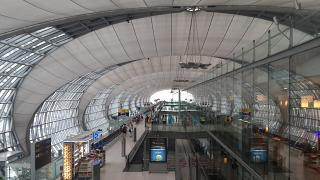 The gates at the airport Bangkok Suvarnabhumi