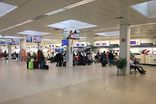 Check-in desks at the airport of Salzburg