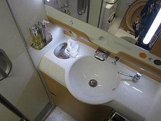 The toilet in the plane is the Airbus A380 airline Emirates