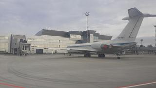 Il-62 aircraft at the new terminal of domestic flights of the Khabarovsk airport