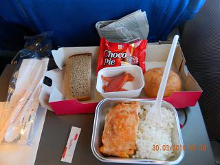 Flight meals on the flight Magadan-Moscow airline VIM-Avia