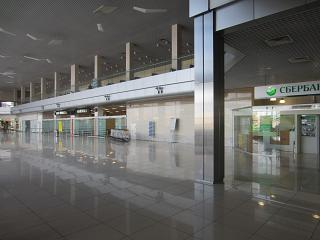 The arrival hall at the airport of Ekaterinburg Koltsovo
