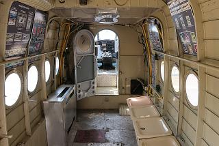The cabin of the An-2 aircraft in the Aviation Museum of Burgas airport