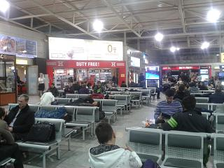 Lounge in the international zone of the airport of Alma-ATA