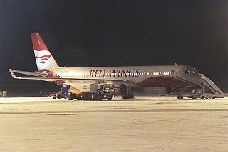 The Tu-204-100 Red Wings airlines at the airport Krasnoyarsk Emelyanovo