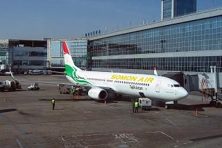 Боинг-737-800 авиакомпании Somon Air в аэропорту Домодедово