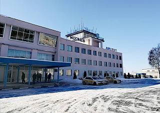 The facade of the building Mogilev airport