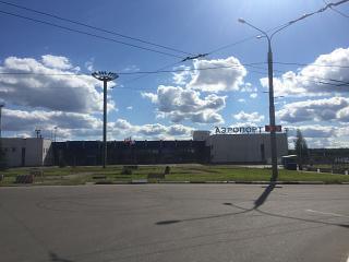 Аэропорт Иваново-Южный. Вид на аэровокзал.