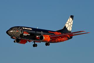 "The plane Boeing 737-300 EW-254PA in the special livery ""World of Tanks"""