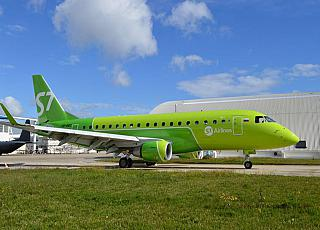The Embraer 170 in new livery of S7 Airlines