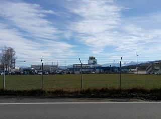 Main building and Parking Altenrhein airport