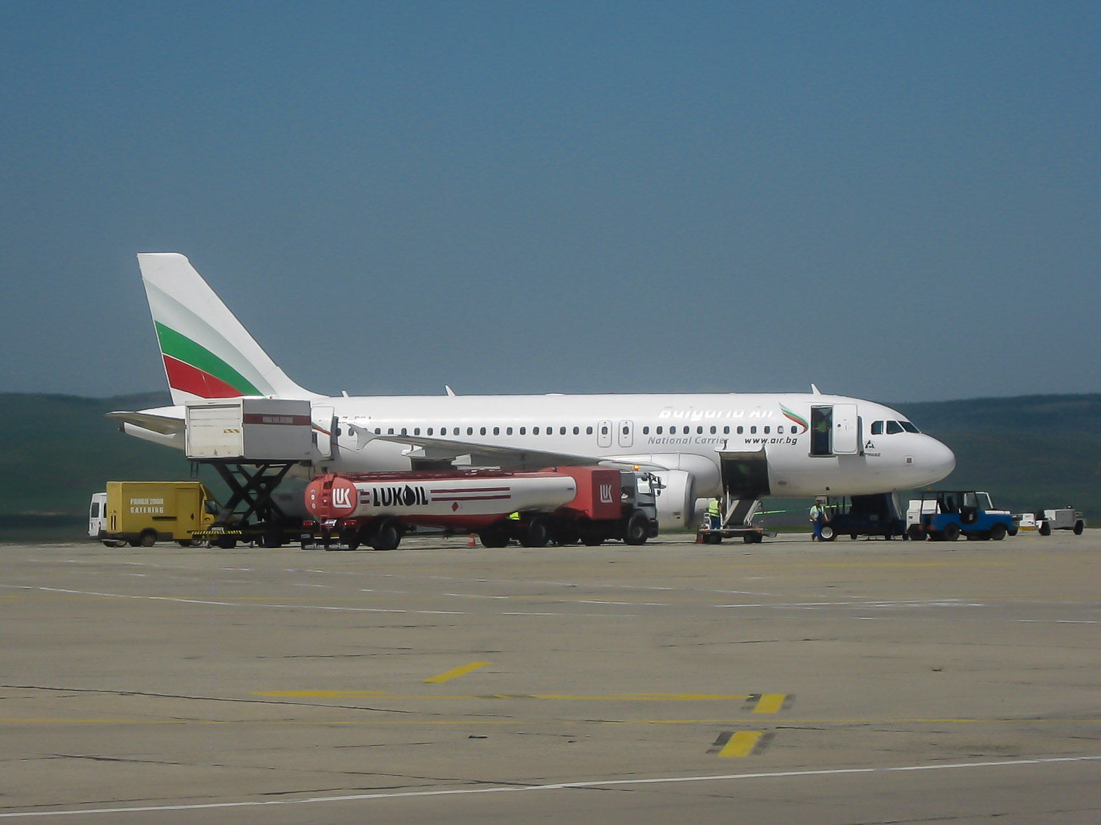 Airbus A319 Bulgaria Air at the Burgas airport