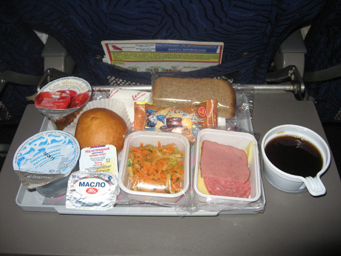 Meal on the flight Antalya-Moscow VIM Airlines