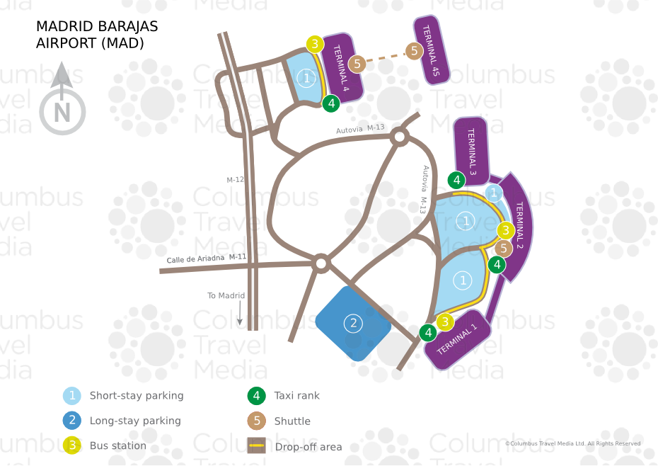 Схема аэропорта Барахас