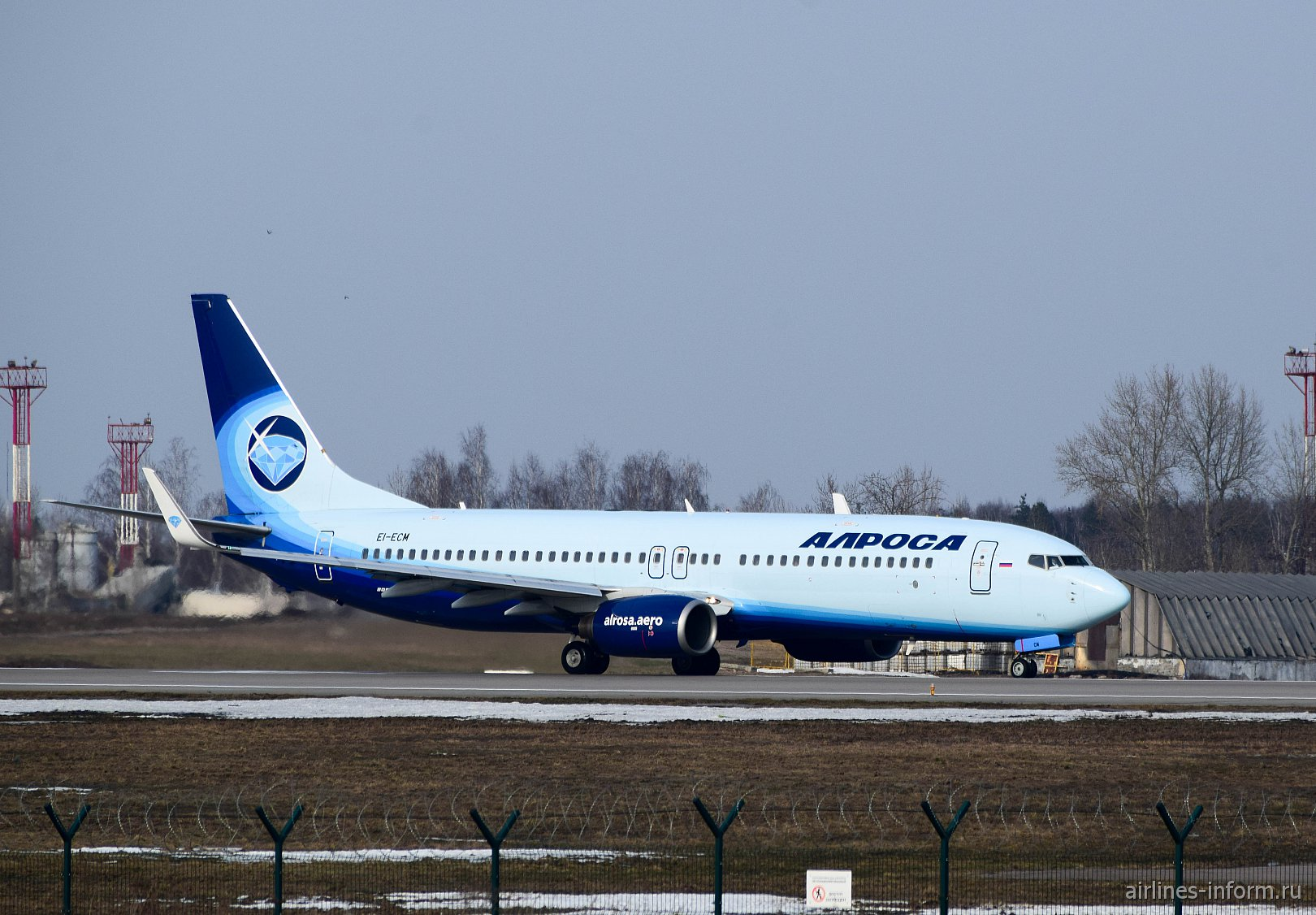 "Боинг-737-800 авиакомпании ""Алроса"" в аэропорту Домодедово"