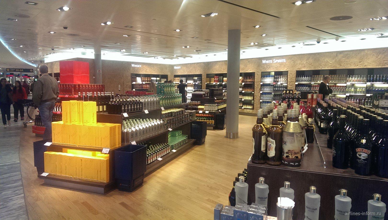 Магазин дьюти-фри в аэропорту Осло Гардермуэн