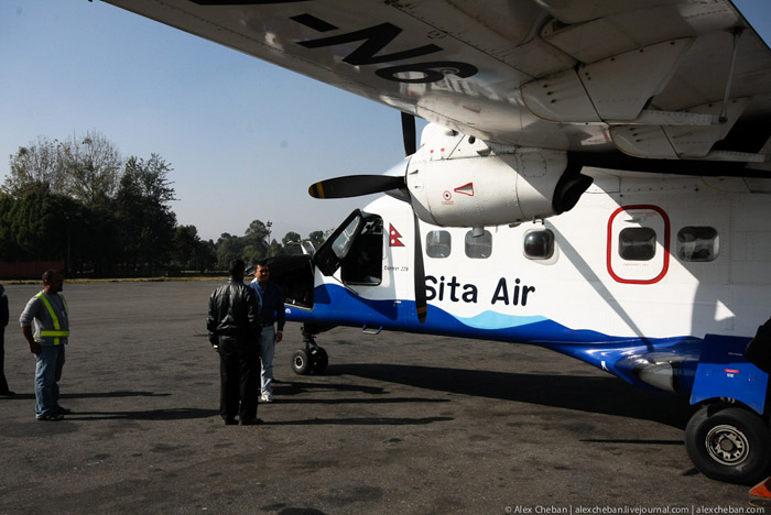 Arrival of Sita Air flight to Kathmandu
