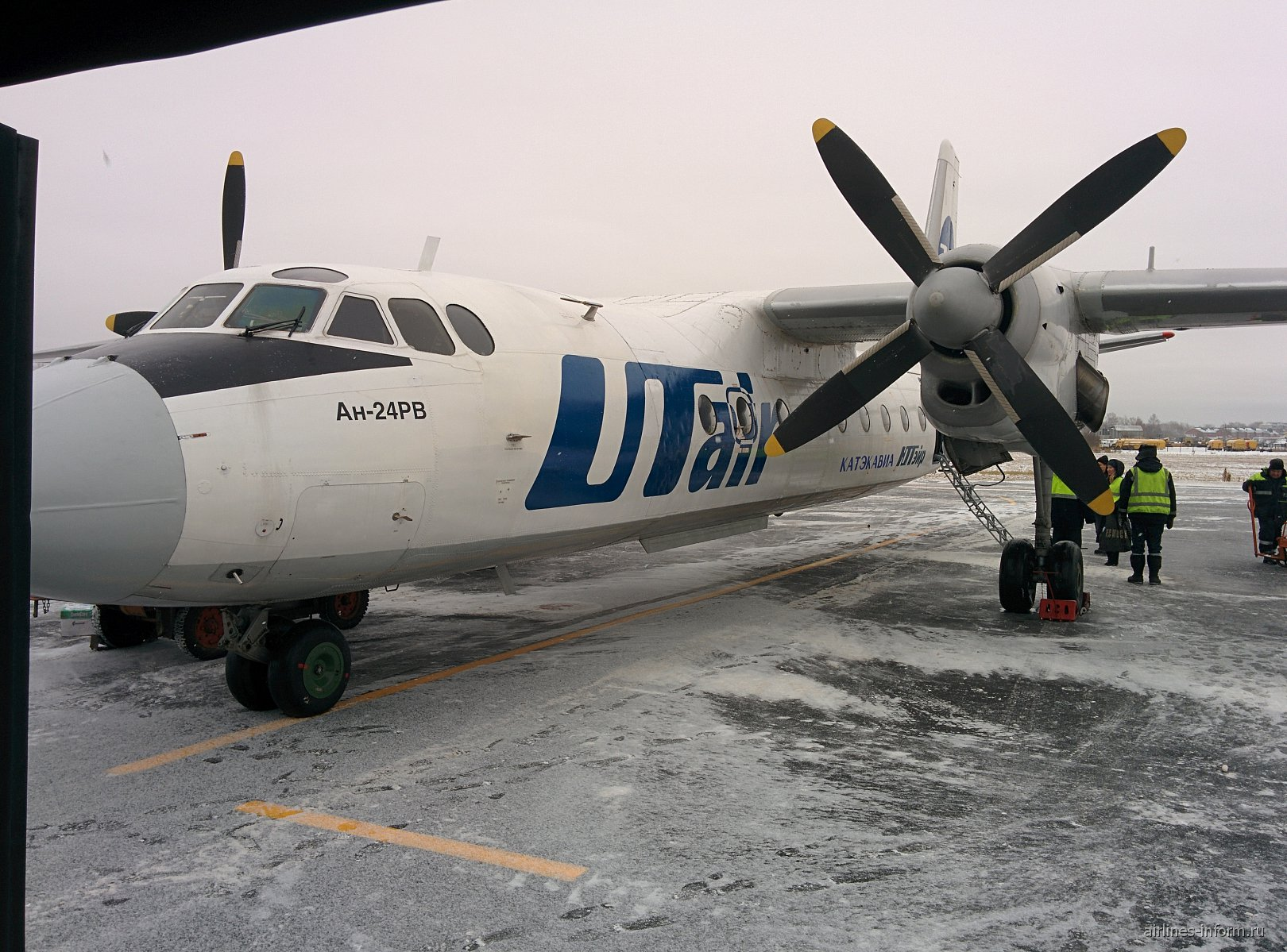 Самолет Ан-24 авиакомпании Катэкавиа