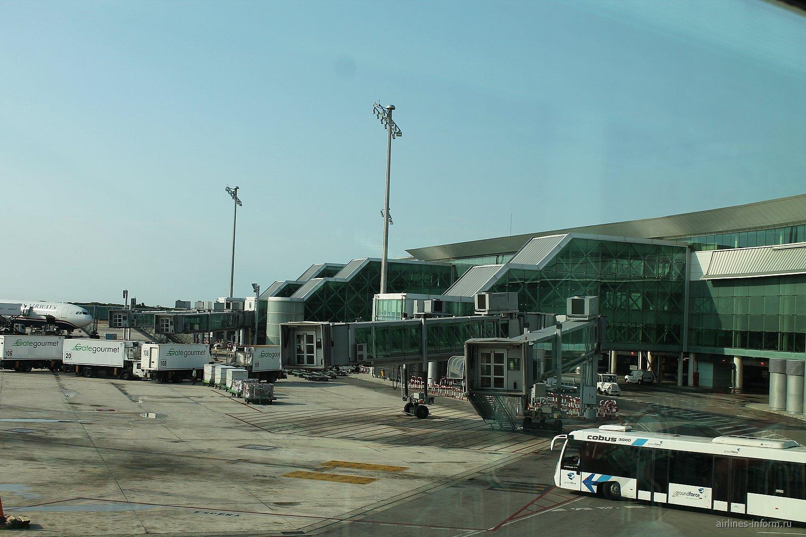 Телетрапы у терминала Т1 аэропорта Барселоны