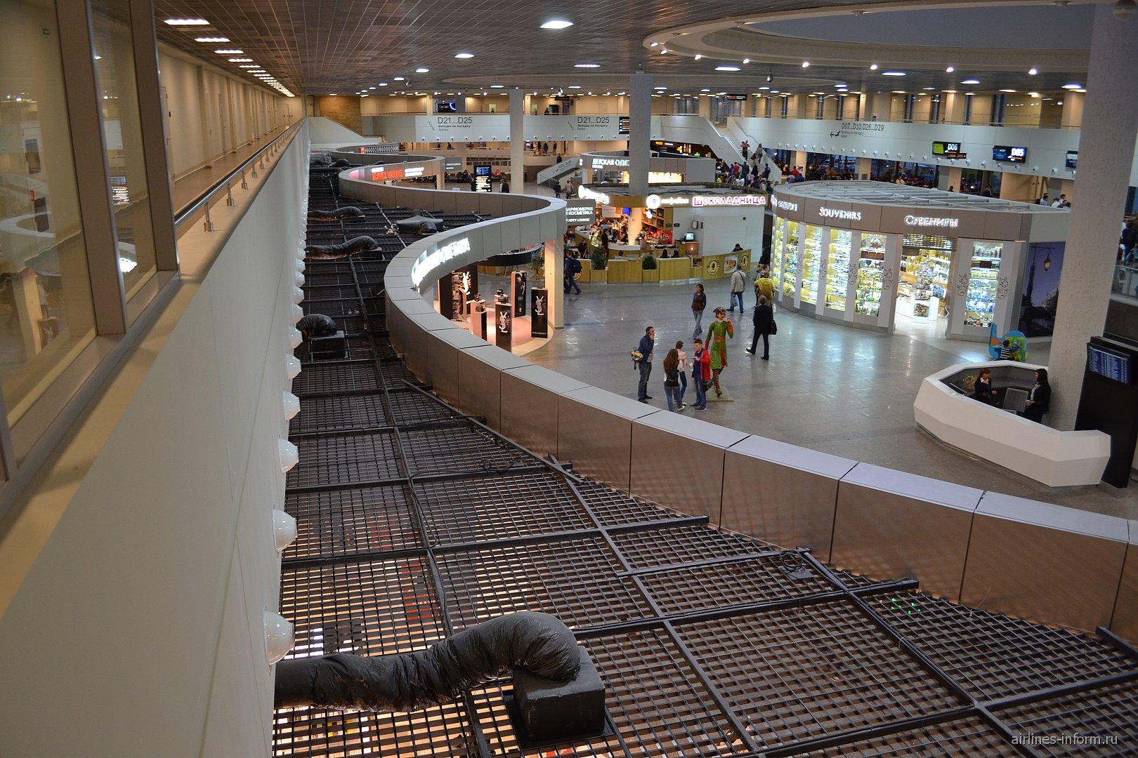 В секторе D аэропорта Санкт-Петербург Пулково