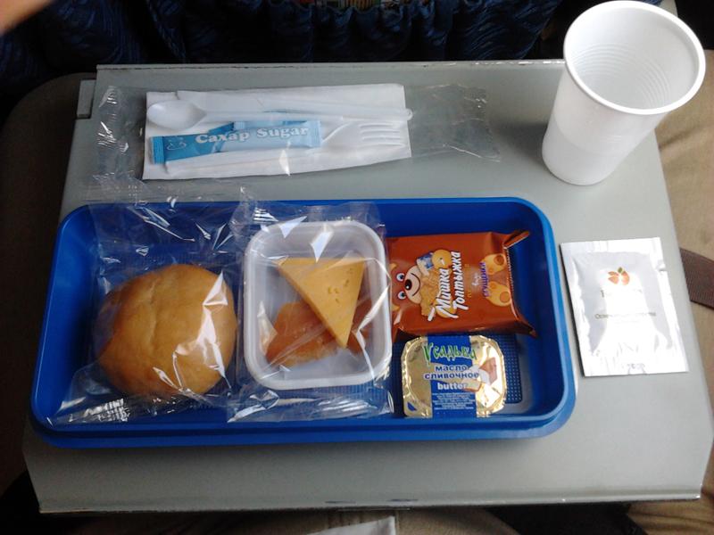 Питание на рейсе авиакомпании Кубань
