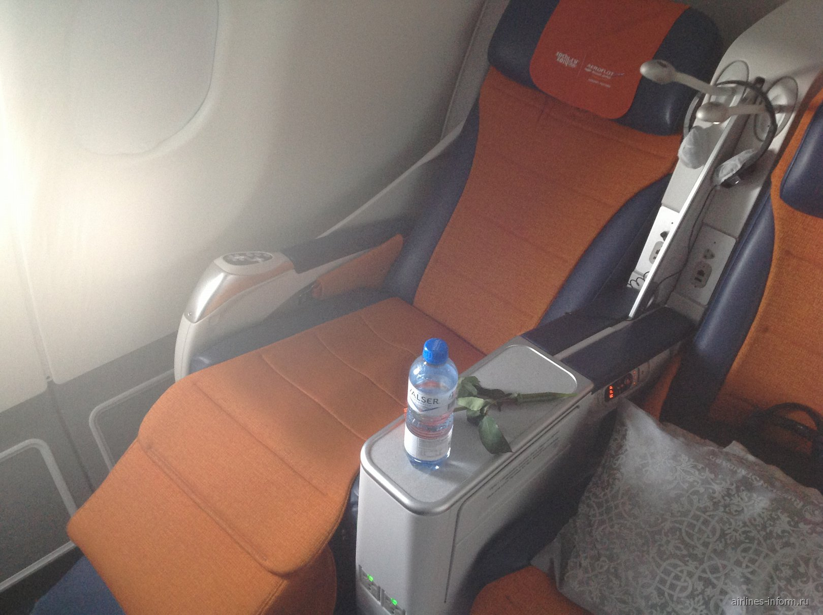 Салон бизнес-класса самолета Airbus A330-300 Аэрофлота