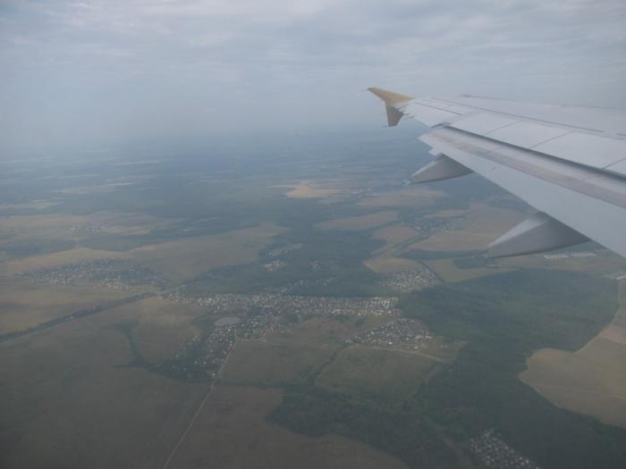 В полете над Россией