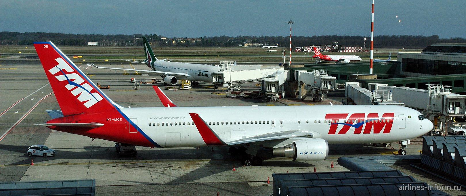 """Constellation Dreamer"": Сан-Паулу Гуарульос (GRU/T3) - Милан Мальпенса (MXP/T1) LATAM Brasil LA8062 (JJ8062) на Boeing 767-300ER(WL)"