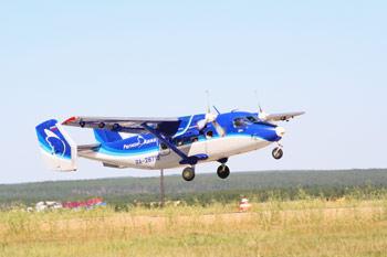 Взлет самолета Ан-28