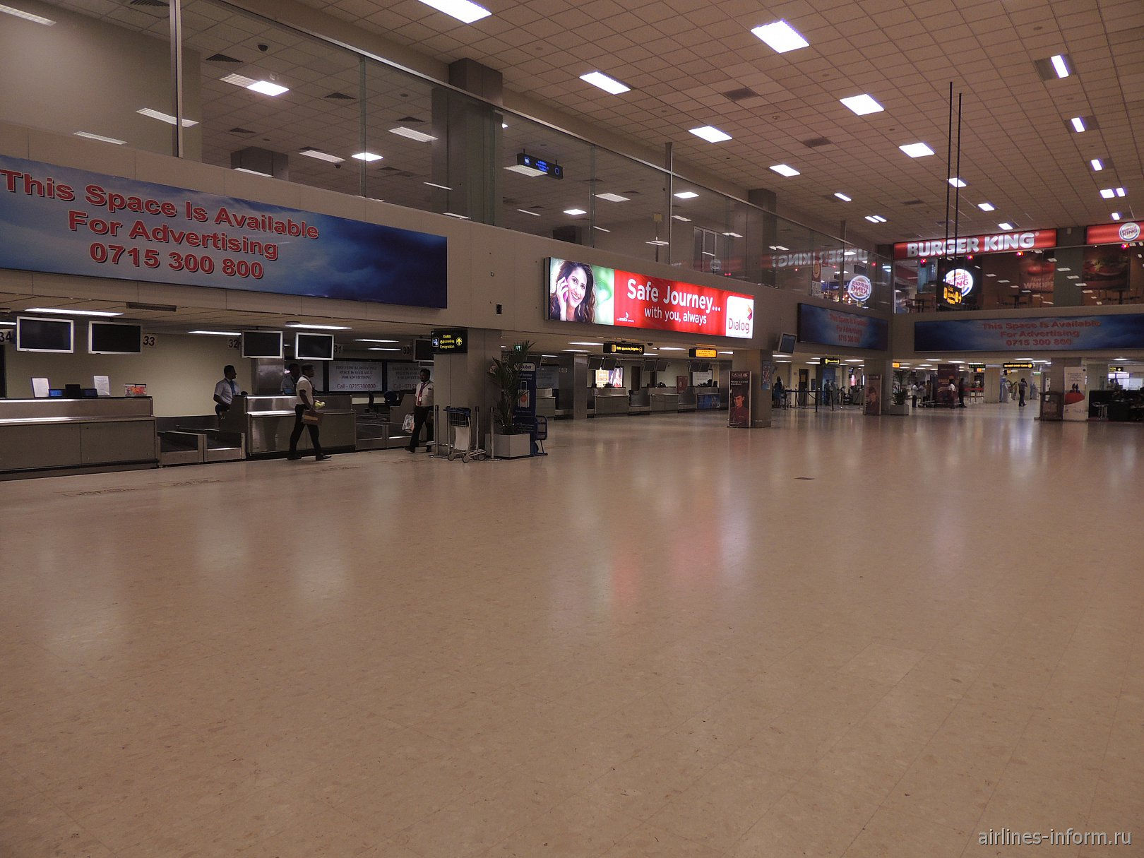 Зал регистрации в аэропорту Коломбо Бандаранайке