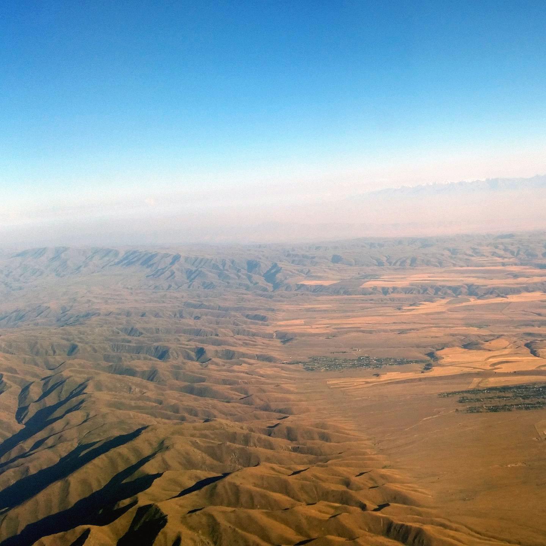 Горы на границе Казахстана и Кыргызстана