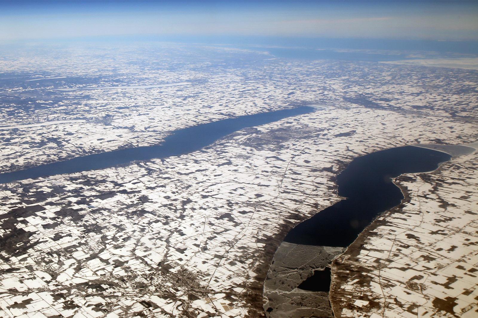 Озера возле города Итака (Ithaca), штат Нью-Йорк