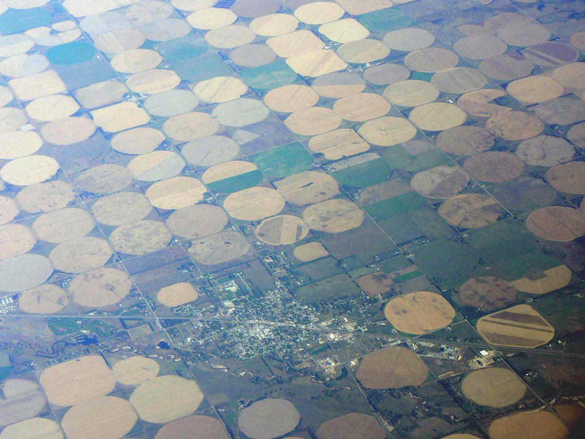 В полете над США