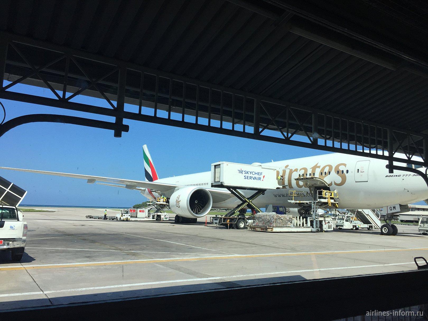 Москва-Сейшеллы Emirates Boeing три семерки и немного Кита