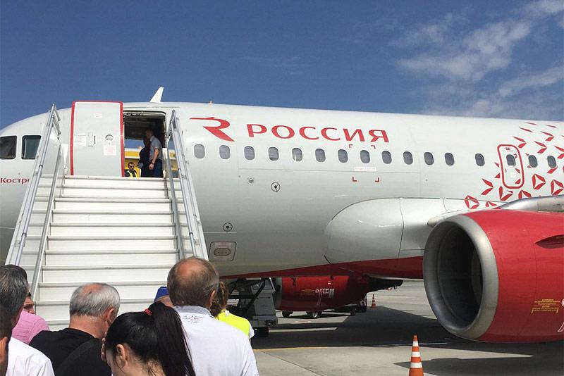 Минеральные-Воды (MRV) - Москва (VKO)  на Airbus A319 авиакомпании Россия, бизнес класс, плюс обзор бизнес зала.