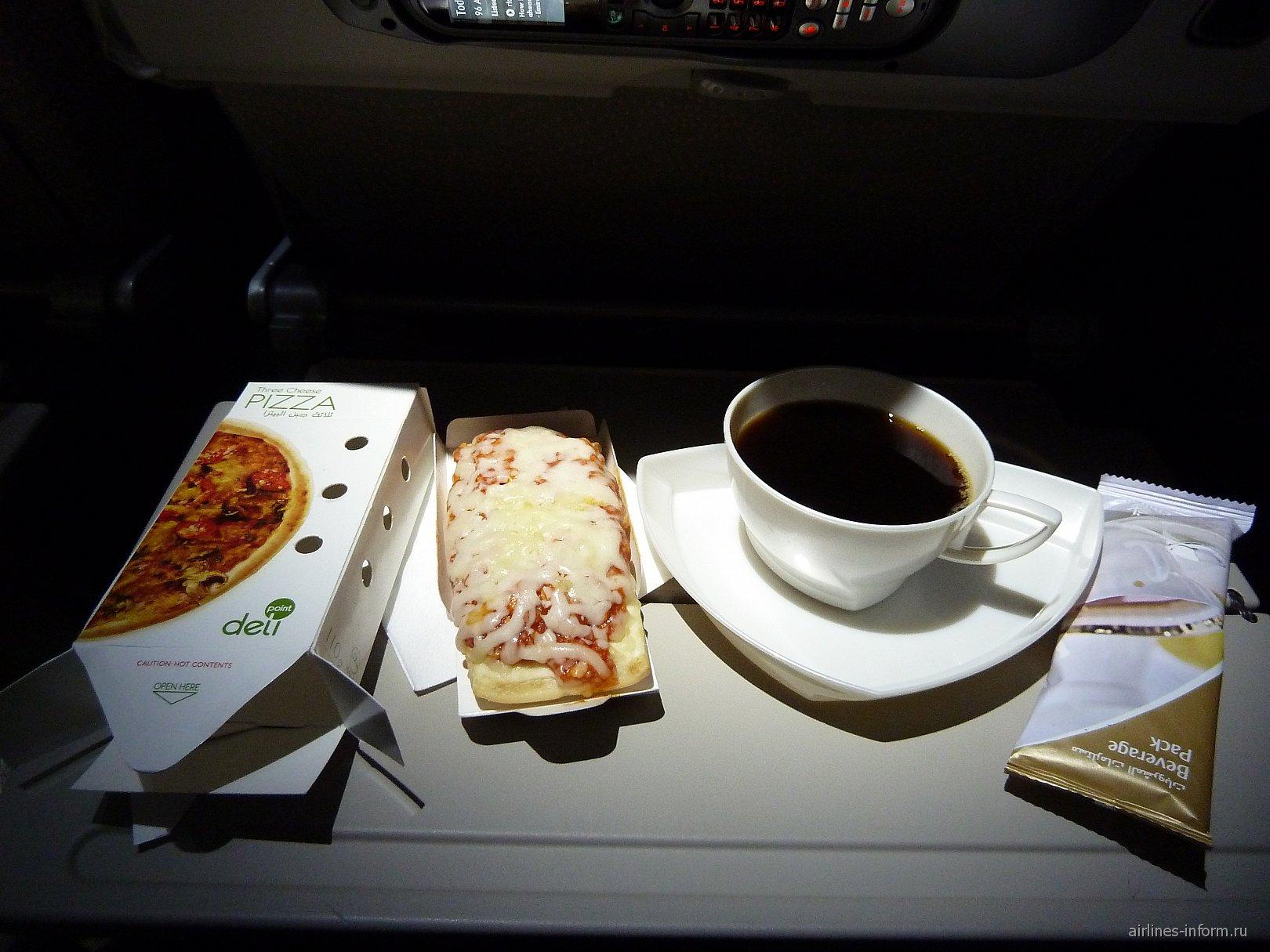 Питание на рейсе Эмирейтс Дубай-Сидней