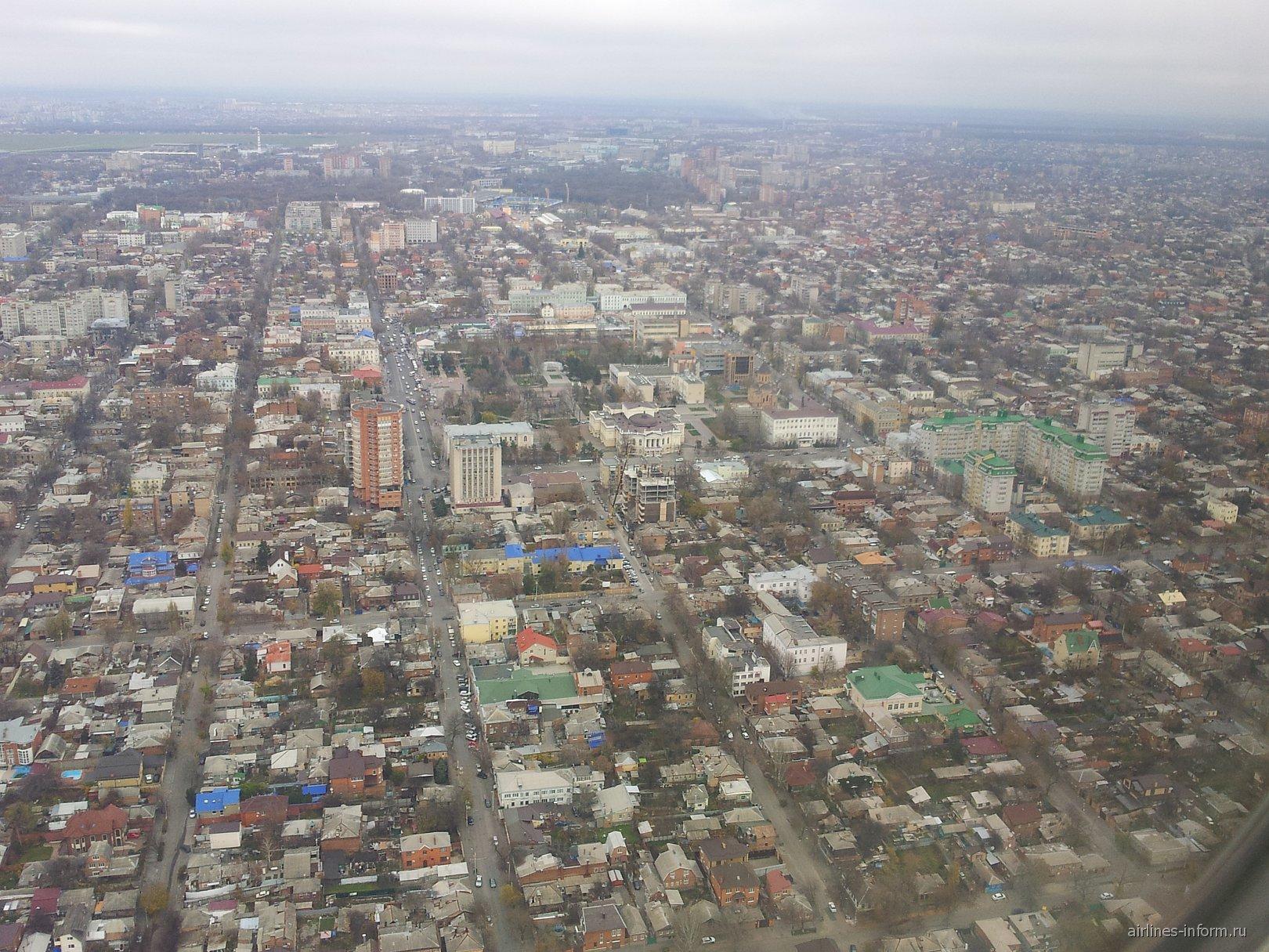 Вид на Ростов-на-Дону перед посадкой