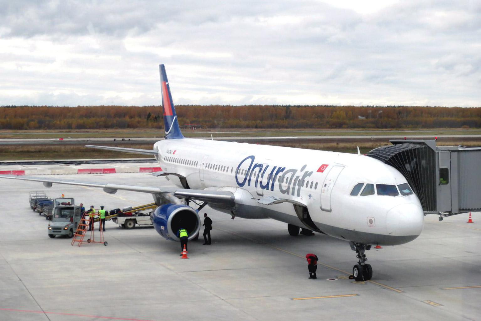 Фото Airbus A321 авиакомпании Onurair в аэропорту Нижний Новгород Стригино