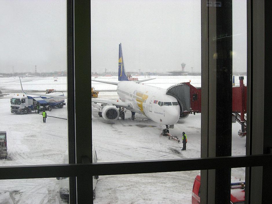 Боинг-737-800 Монгольских авиалиний в аэропорту Шереметьево
