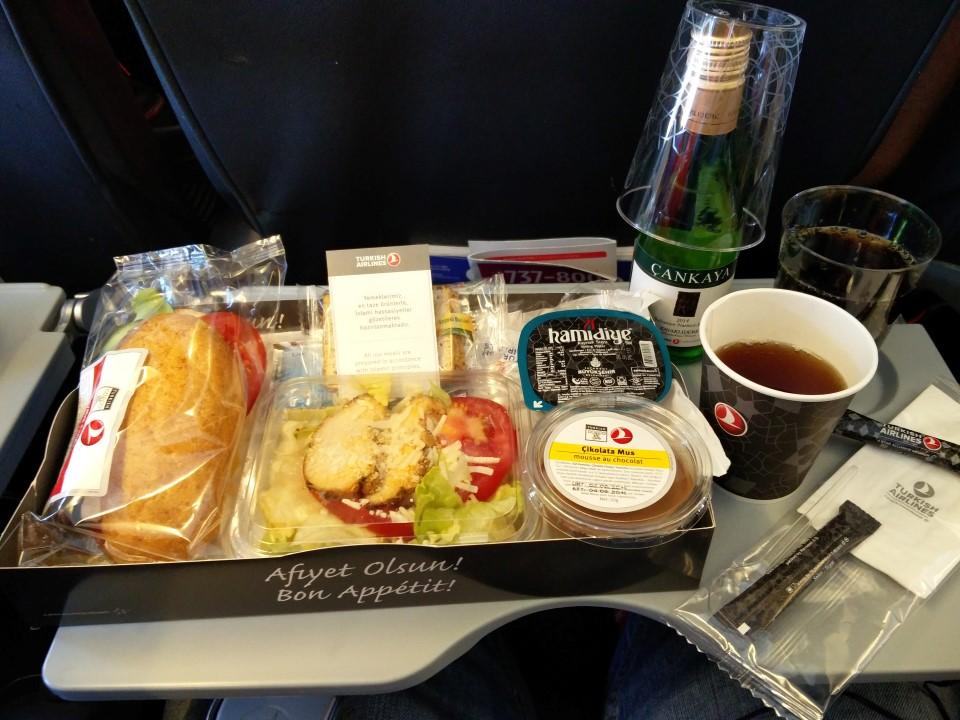 Питание на рейсе Киев-Стамбул Турецких авиалиний