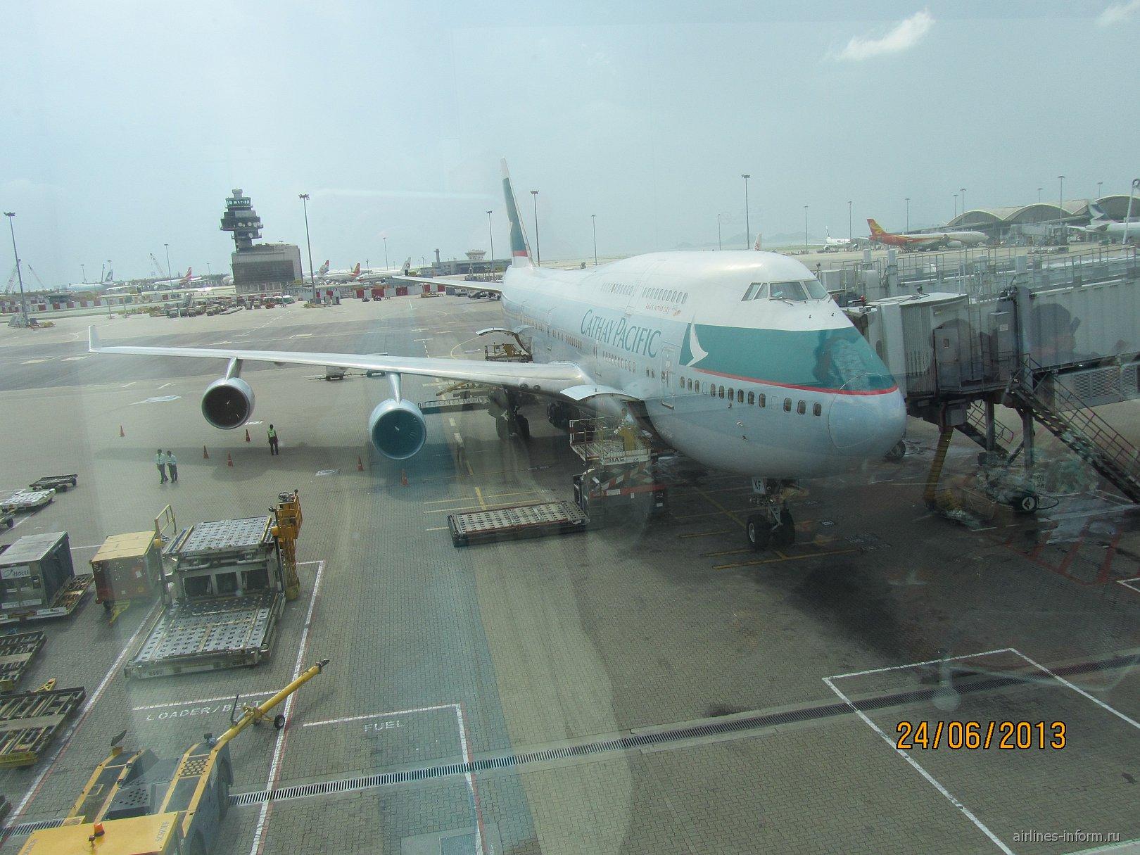 Боинг-747-400 авиакомпании Cathay Pacific