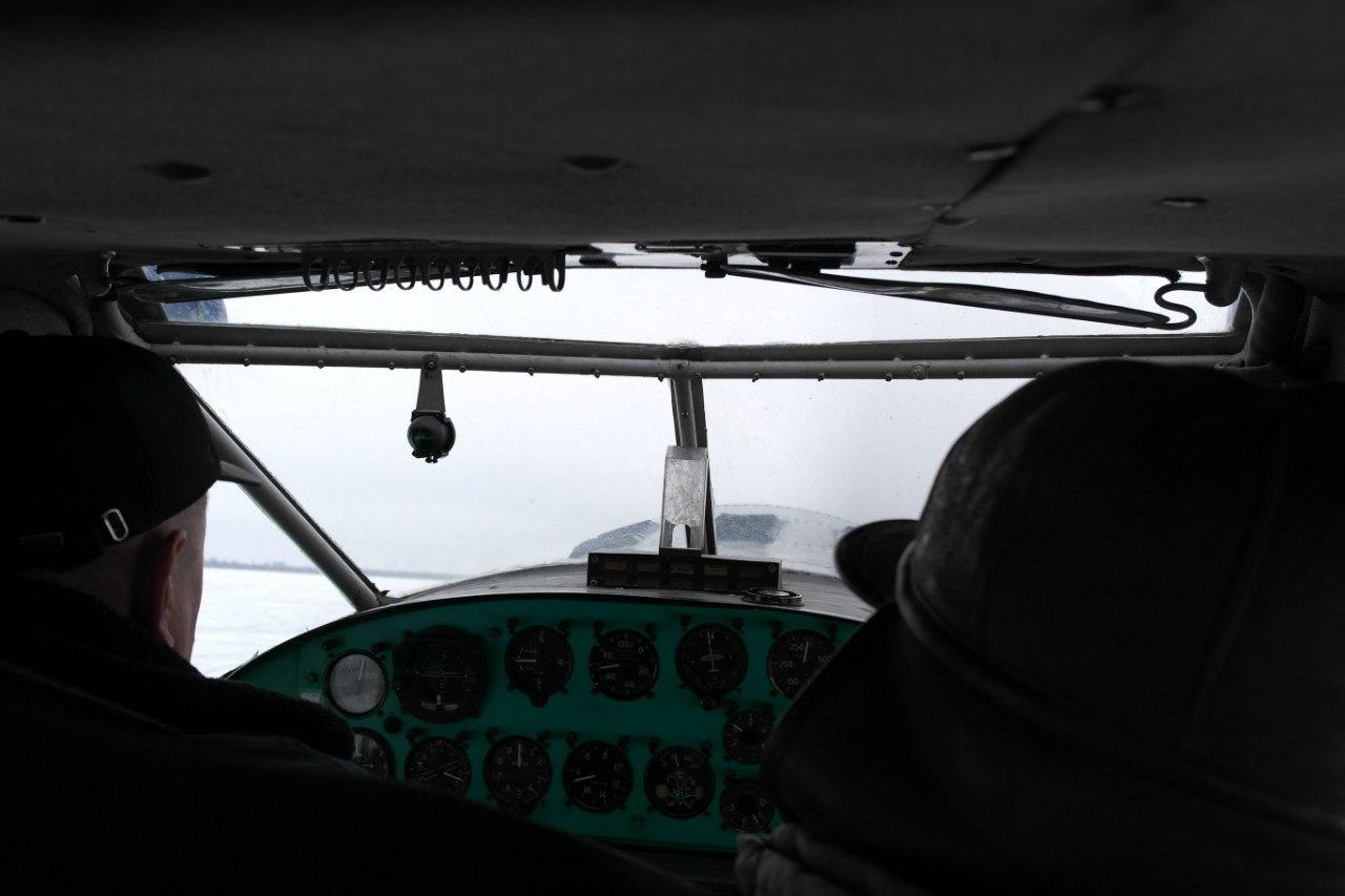 Кабина самолета Як-12