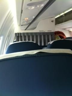 В салоне самолета ATR 72 авиакомпании ЮТэйр