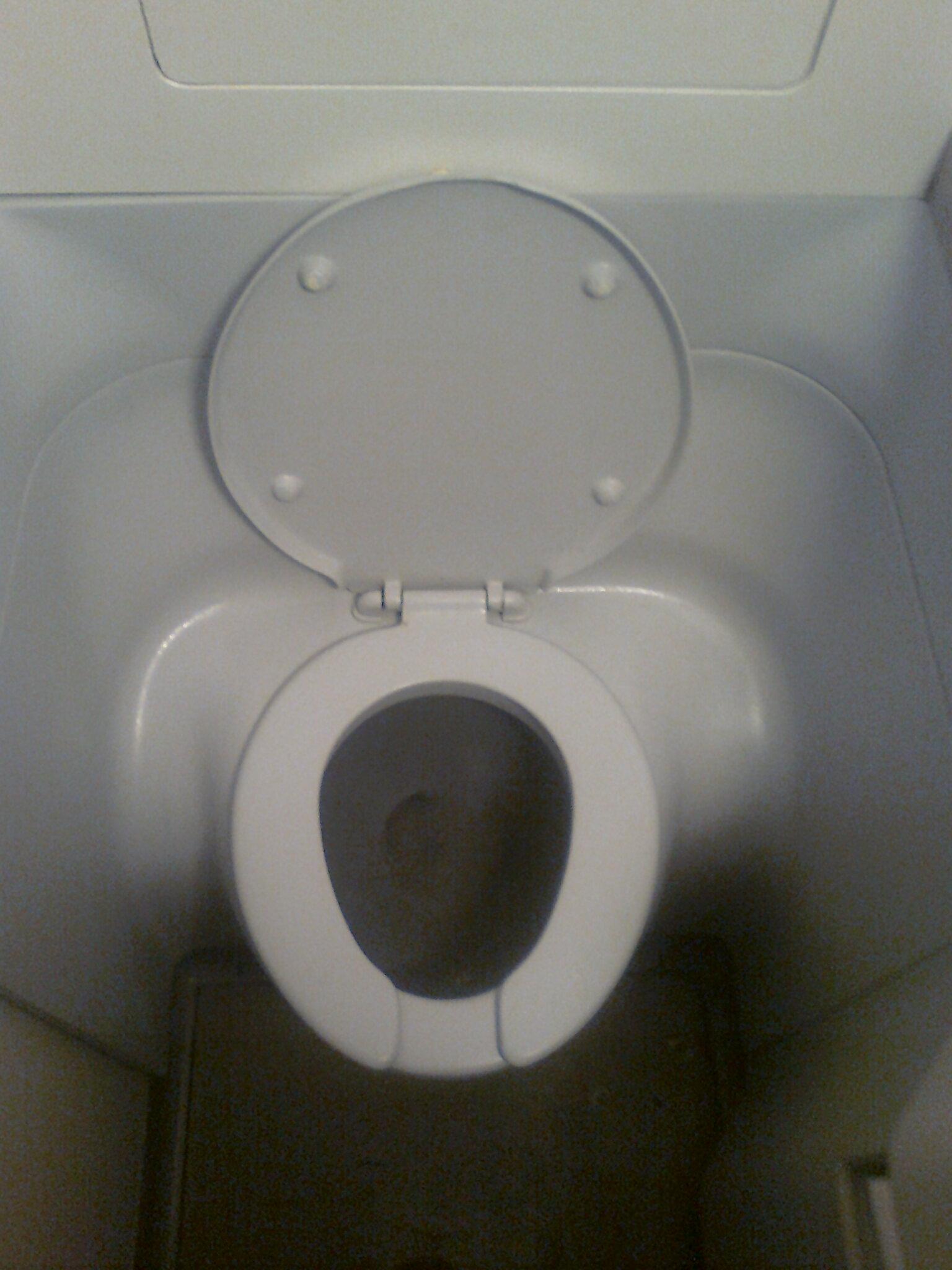 Туалет самолета Боинг-737-800 Оренбургских авиалиний