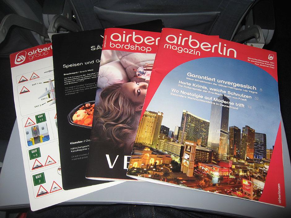 Бортовые журналы авиакомпании Air Berlin