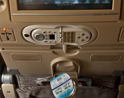 Entertainment system in Airbus A340-300 Etihad Airways