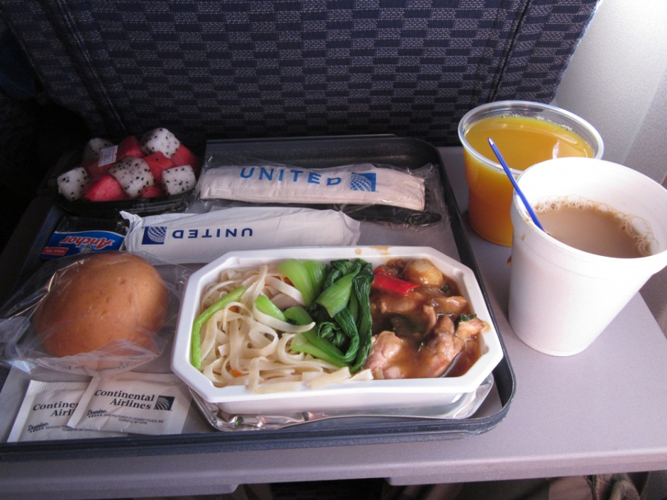 Meal on United flight Ho Shi Minh City - Hong Kong